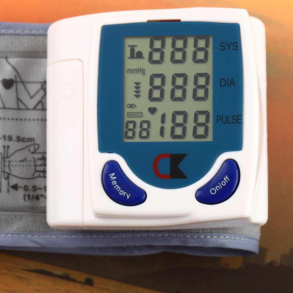 Digital LCD Wrist Cuff Arm Blood Pressure Monitor