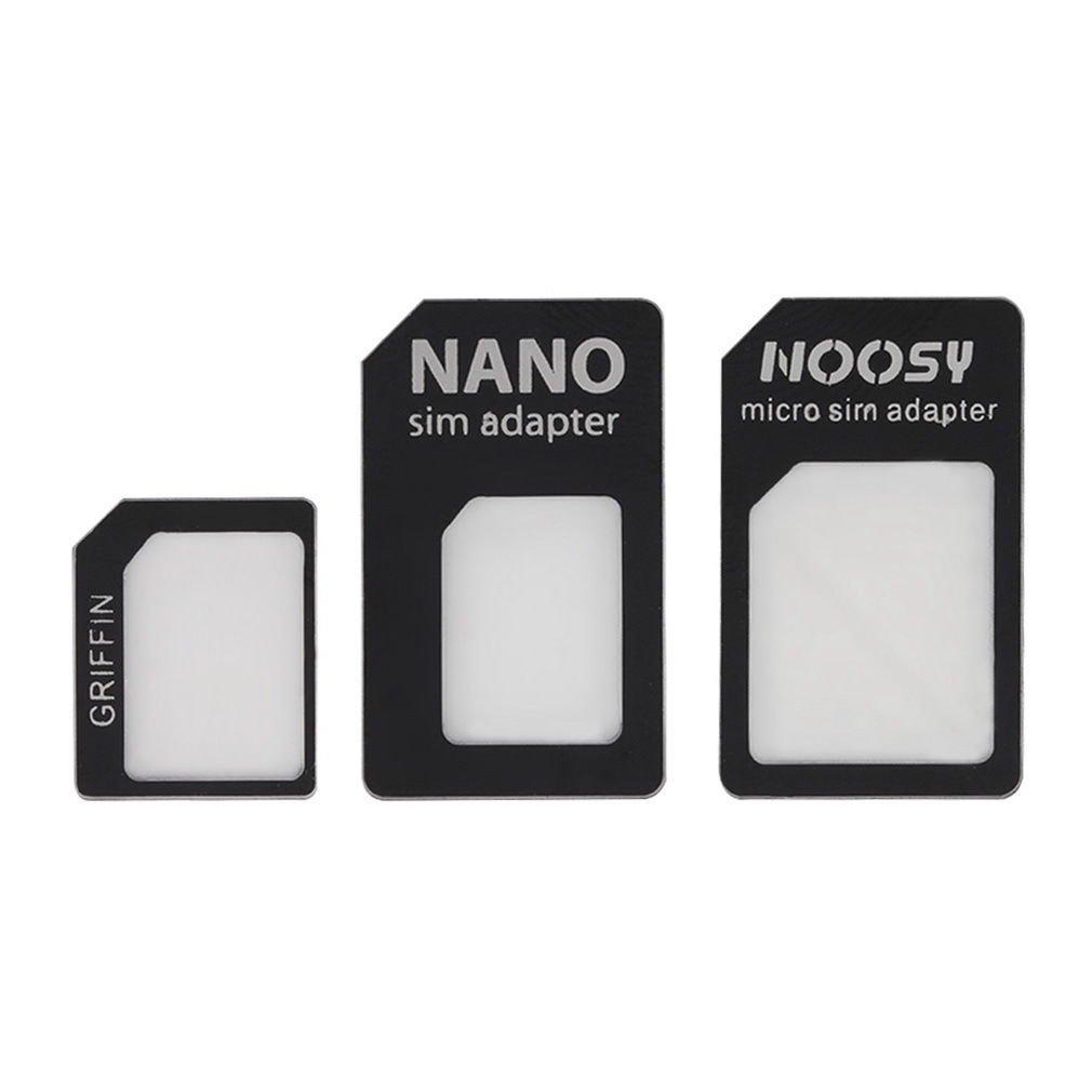 3 in 1 Nano SIM to Micro Standard SIM MICROSIM Adaptor Adapter for iPhone5