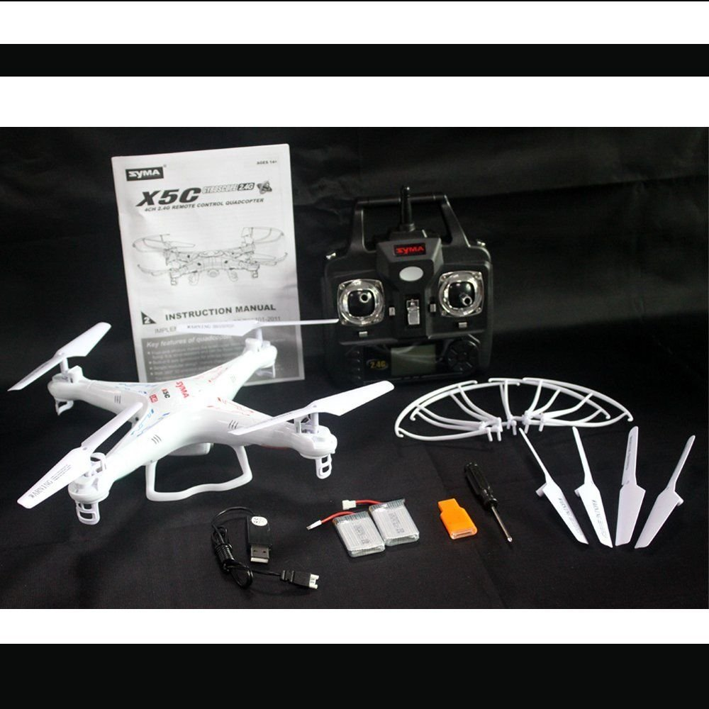 Syma X5C 2.4Ghz 6-Axis Gyro RC Quadcopter Drone UAV RTF UFO with HD Camera