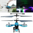 AVATAR Z008 IR 2.4G 4CH RC Remote Control Helicopter LED Light GYRO RTF Blue