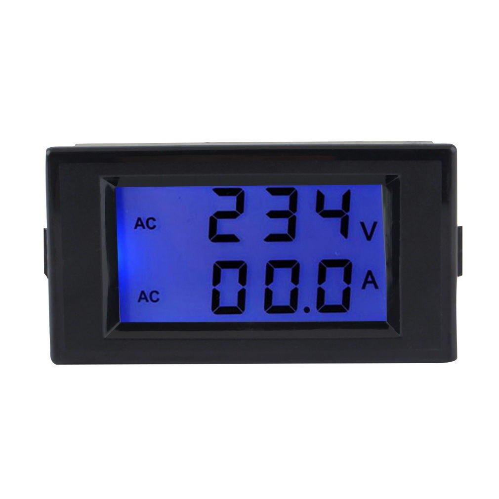 Ac Panel Meters : Ac digital ammeter voltmeter lcd panel amp volt meter a