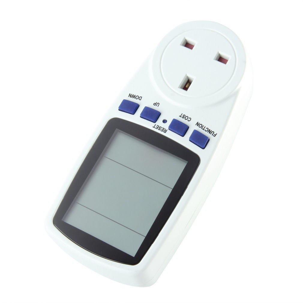 UK Plug Energy Meter Watt Volt Voltage Electricity Monitor Analyzer Power