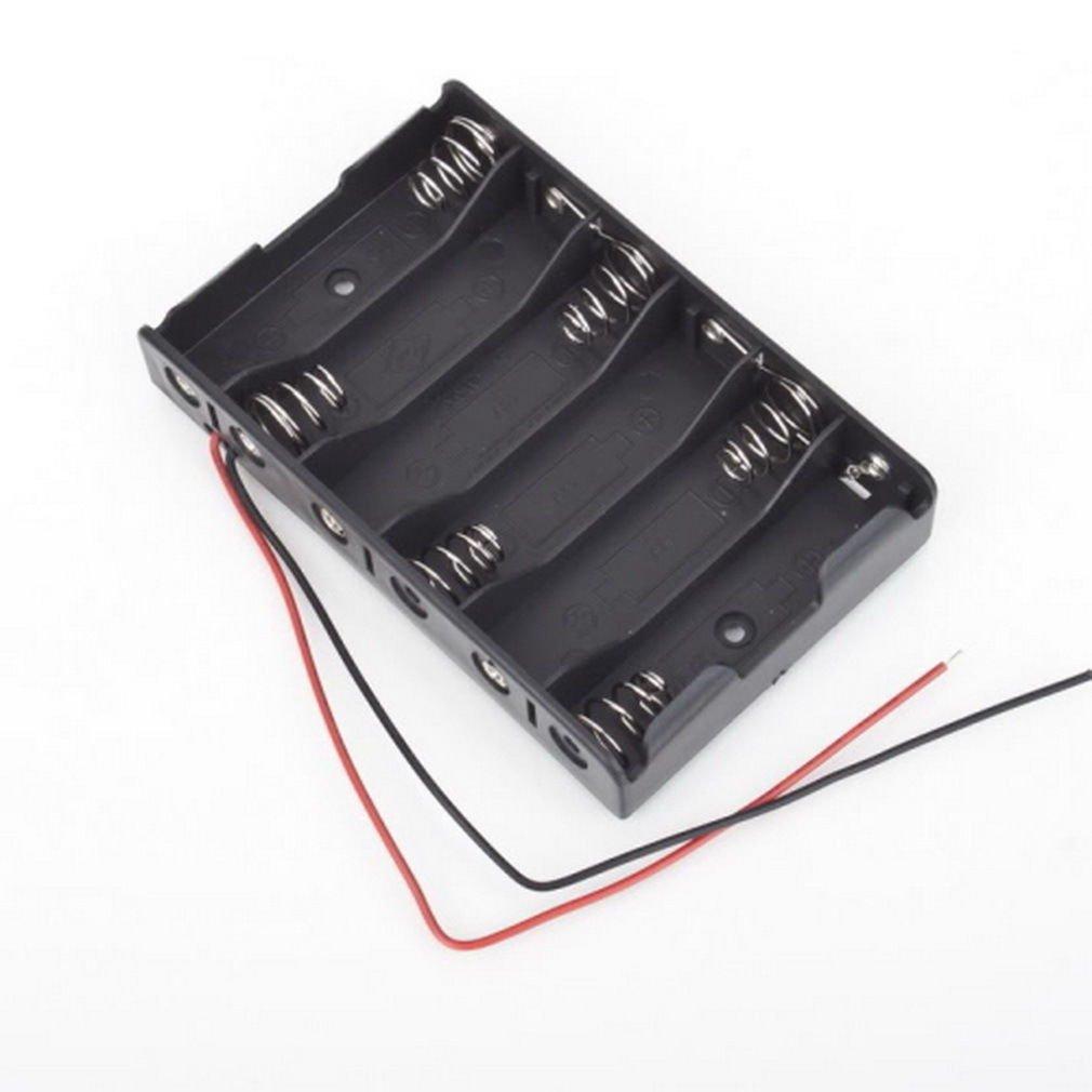 Battery Box Slot Holder Case for 6 Packs AA 2A Batteries Stack 9V