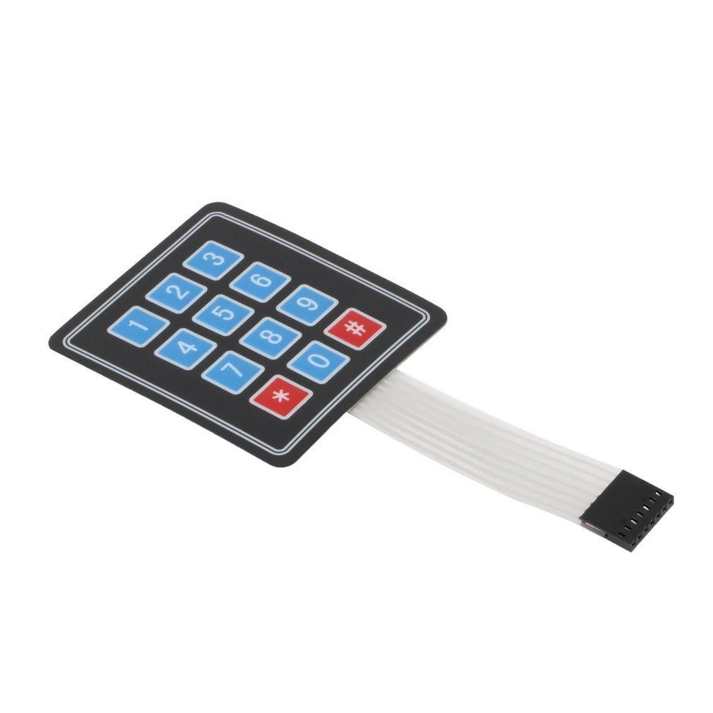 Matrix Array 12 Key Membrane Switch Keypad Keyboard For Arduino AVR 4 x 3