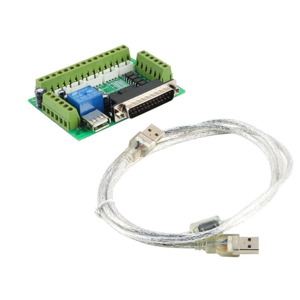 CNC 5 Axis Interface Breakout Board For Stepper Motor Driver CNC Mill MACH3
