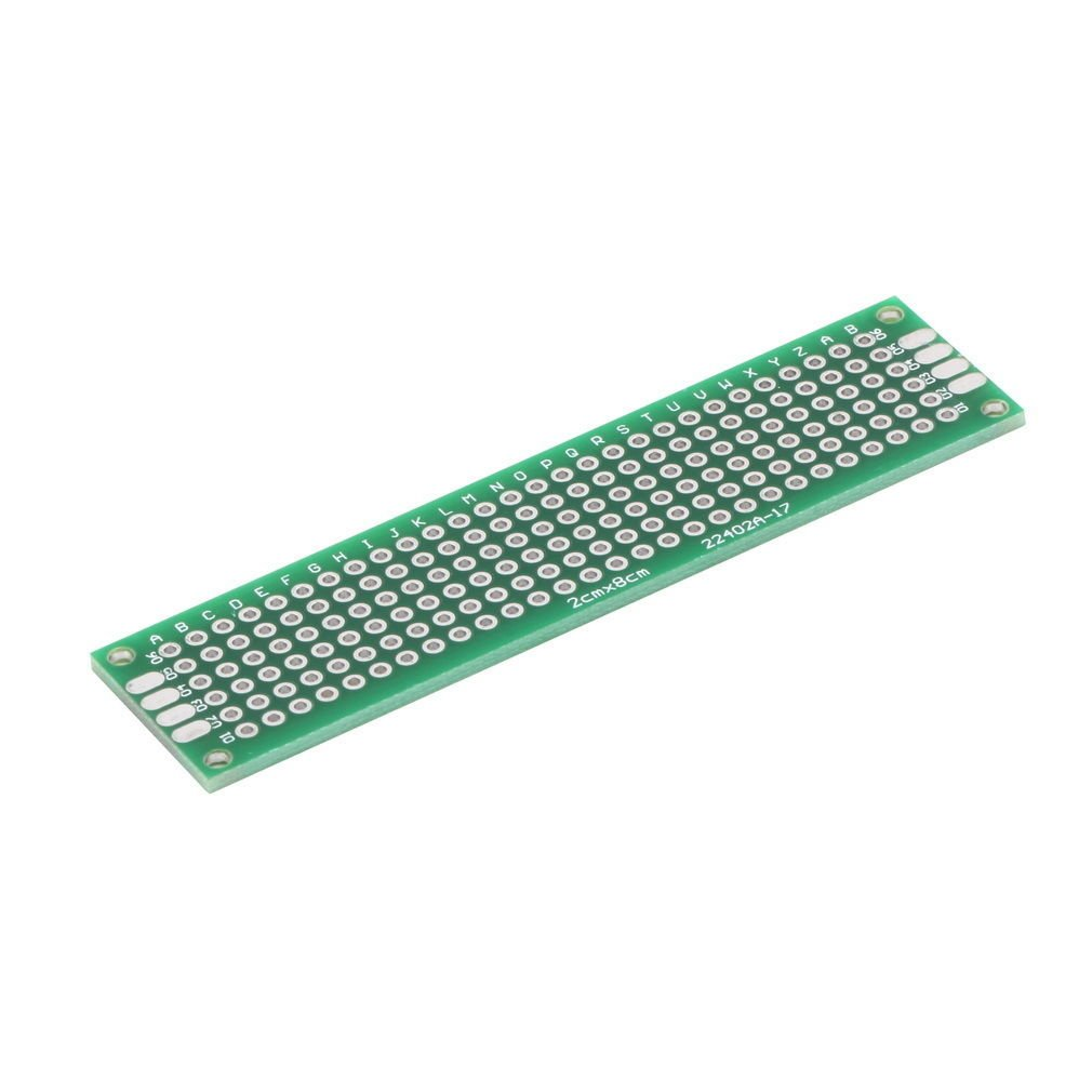 Double Side Prototype PCB Tinned Universal Breadboard 2x8cm 20mmx80mm