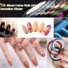 30 Pcs Mixed Colors Rolls Striping Tape Line Nail Art Tips Decoration Sticker          PMU5