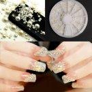 3D Fashion Nail Art Tips Pearl Acrylic Gem Glitter Manicure DIY Decoration         PMU5