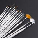 15pcs Nail Art Design Set Dotting Painting Drawing Polish Brush Pen         GGT6