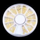 Tiny Mixed Design Nail Art Decoration Acrylic Tips Metal Slice Sticker      GGT6