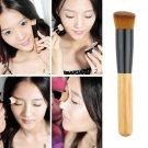 Bamboo Foundation Blush Angled Flat Top Base Liquid Brush Cosmetic Makeup Tool             BV6