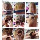 Hair Updo Wrap Fold Snap Bun Maker Hair Magic Styling Tool              AS4