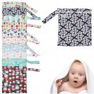 Portable Baby Nappy Reusable Washable Wet Dry Cloth Zipper Waterproof Diaper Bag          JH6