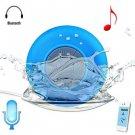 BTS - 06 Bluetooth Water Resistant Shower Speaker with Sucker  -  BLUE