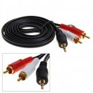 1.5M 5FT PC/Laptop Stereo 3.5mm Male to 2 RCA Male Audio Cable