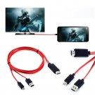 "MHL Micro USB HDMI HDTV AV TV Adapter Cable For Samsung Galaxy Tab 4 SM-T531 10""           SA3"