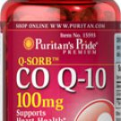 Puritan's Pride Q-SORB™ Co Q-10 100 mg  100 mg / 120 Softgels /