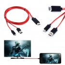 MHL Micro USB 1080P HDMI HDTV AV TV Adapter Cable Cord For HTC ONE m7 m8 phone YT3