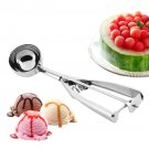 Ice Cream Spoon Stainless Steel Spring Handle Masher Cookie Scoop       VW1