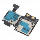 Micro SD Card Reader SIM Tray Holder Flex Cable for Samsung Galaxy S4 i9505    VW1