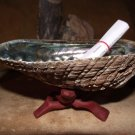 ABALONE SMUDGE KIT FOR WHITE SAGE WITH SHELL STAND PURIFICATION POSITIVE ENERGY   VW2