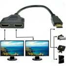 1080P HDMI 1 Male To Dual HDMI 2 Female Y Splitter Cable Adapter for HDTV LCD TV     V1