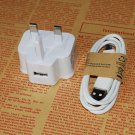 REPLACEMENT SAMSUNG GALAXY S3 S4 NOTE2, 4 WALL CHARGERS MAINS+ USB DATA CABLE UK