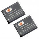 2PCS DSTE DMW-BCN10 Battery for Panasonic DMC-LF1 Camera Show Battery Level           VW0