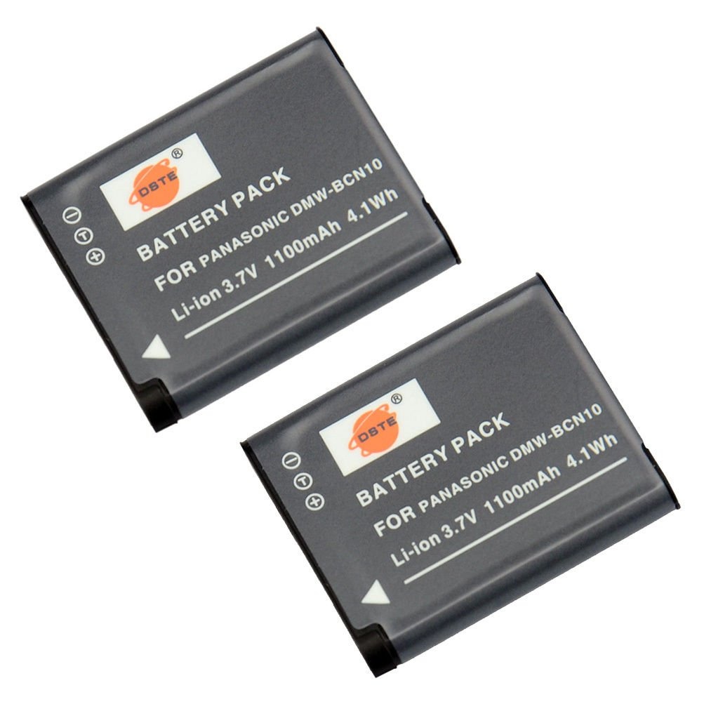 2PCS DSTE DMW-BCN10 Battery for Panasonic DMC-LF1 Camera Show Battery Level               VW2