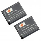 2PCS DSTE DMW-BCN10 Battery for Panasonic DMC-LF1 Camera Show Battery Level               VW2