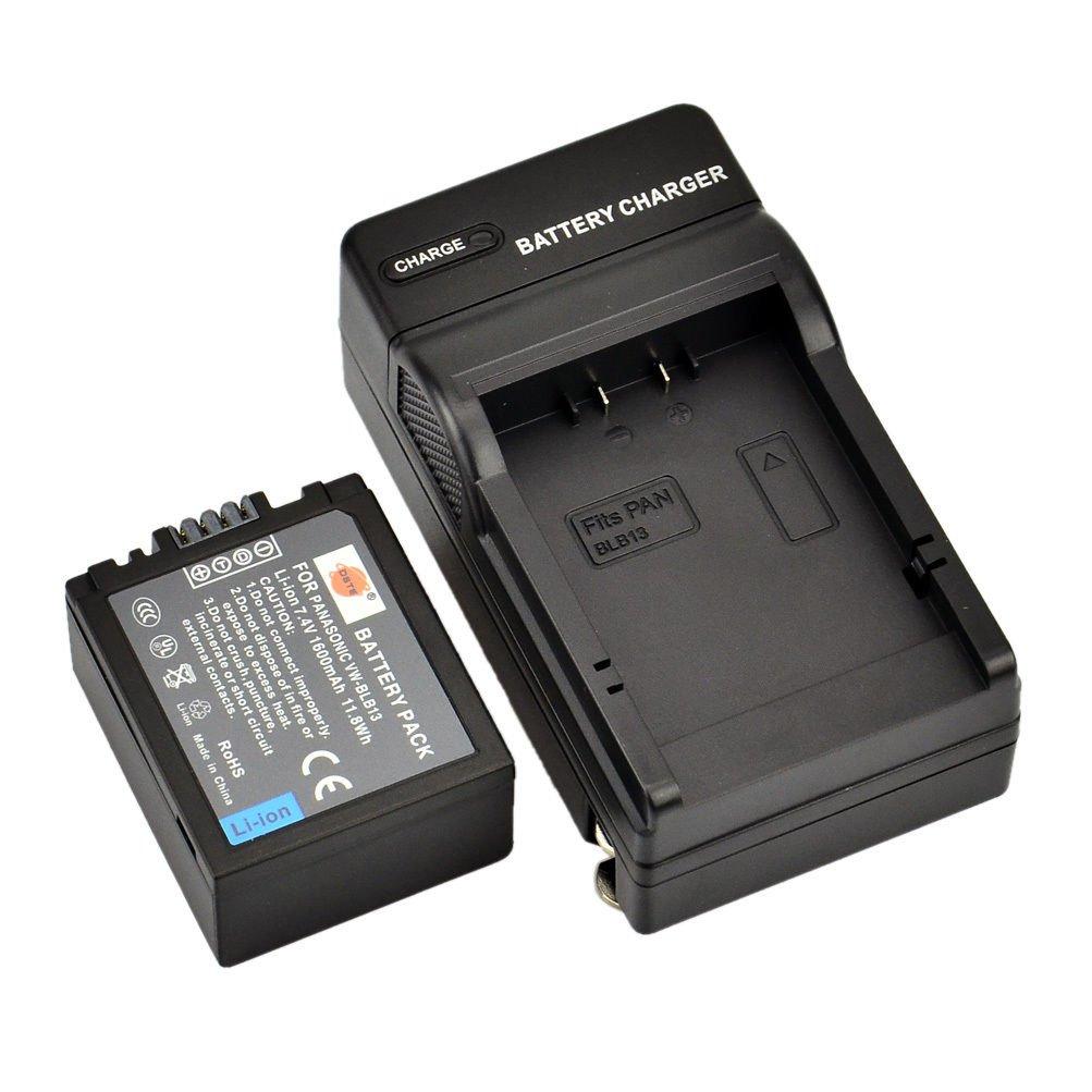DSTE DMW-BLB13 BLB13E Battery + Charger For PANASONIC Lumix DMC-G1 G10 GF1 GH1        VW2