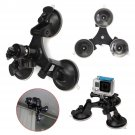 Tri-Angle Suction Cup Mount 360 Rotation Head Tripod For GoPro Hero 3+ 4 Session        VW2