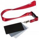 3in1 Digital 18% Gray/White/Black Card Set Photography Exposure Balance w/ Strap         VW2