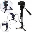 YUNTENG VCT-288 Camera Monopod + Fluid Pan Head + Unipod Holder For DSLR Camera          VW2
