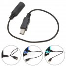 3.5mm Jack Mini USB Microphone Mic Adaptor Cable Cord For GoPro HD Hero 4 3+ 3     VW2
