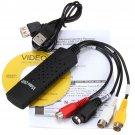 USB 2.0 Video Audio VHS to DVD RCA Capture Converter Card Adapter for Win XP 7/8    VW2