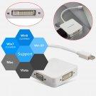 3 in 1 Mini DP Displayport to HDMI DVI I D VGA Adapter for MacBook Thunderbolt    VW2