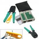 RJ45 RJ11 RJ12 CAT5 LAN Network Tool Kit Cable Tester Crimper Plier Connector     VW5