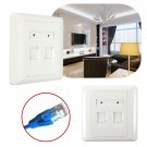 86 Type 2 port Square RJ45 CAT6 Wall Flat Face Plate Ethernet Network Socket    VW7