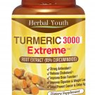 3 x BOTTLES TURMERIC 3000 95% CURCUMINOID TUMERIC PILLS ANTIOXIDANT ANTI AGING    RT5