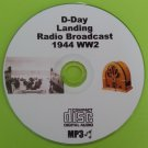 D-Day Landing WW2 1944 Old Time Radio Broadcast OTR MP3 CD   HG5