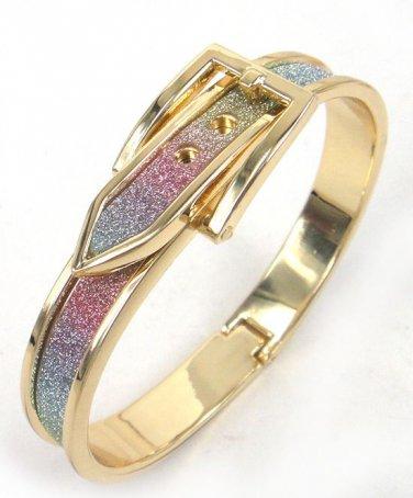 Belt Buckle Design Bangle Bracelet