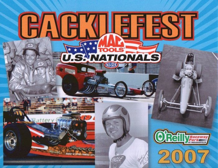 2007 NHRA Handout Mac Tools US Nationals Cacklefest