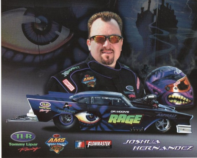 2005 NHRA PM Handout Josh Hernandez (Blue version)