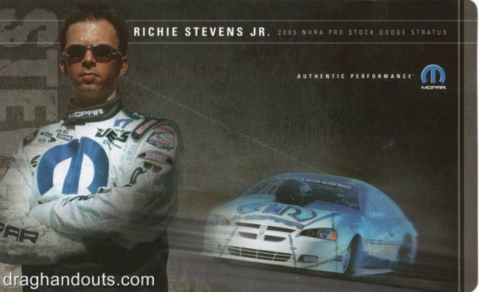 2005 NHRA PS Handout Richie Stevens (version #2)