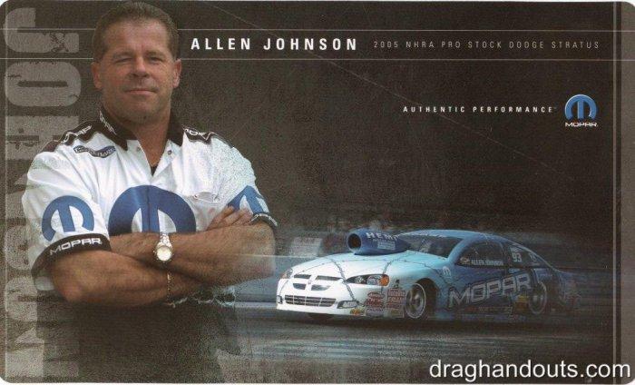 2005 NHRA PS Handout Allen Johnson