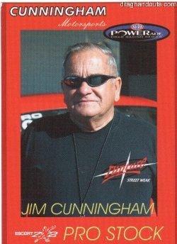 2005 NHRA PS Handout Jim Cunningham (BB Card)