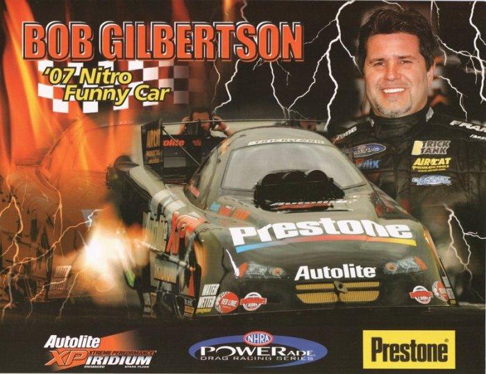 2007 NHRA FC Handout Bob Gilbertson