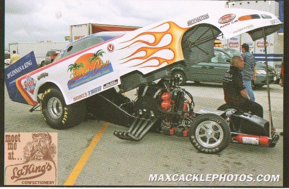 2007 NHRA FC Postcard Handout Mitch King