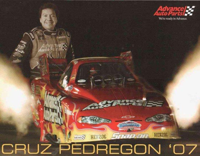 2007 NHRA FC Handout Cruz Pedregon (Adance Auto)